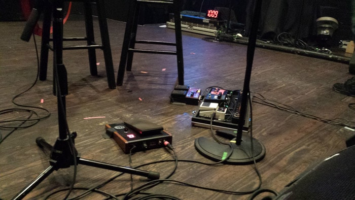 Pete Yorn's pedal board
